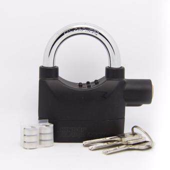Harga Kinbar Alarm Padlock for Door/Motor/Bike/Car 110db Anti-TheftSecurity Lock Set with Batteries