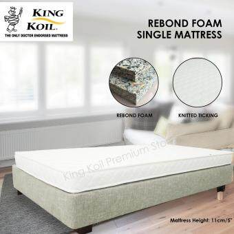 Harga Kingkoil Single Size Rebond Foam Mattress 5'' with Knitted Ticking