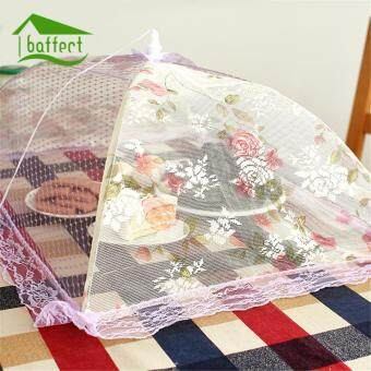 Lace Gauze Food Cover Umbrella Style Picnic Anti Fly Mosquito Net Tent Hexagon Meal Cover Table