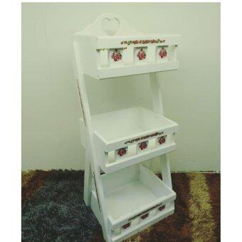 Harga LUXURIE Vintage Multi-Functional 3 Level Rack [White]