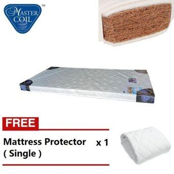 Harga Mastercoil 4 inches Coconut Fibre Single mattres Free Mattress protector - 5 year warranty