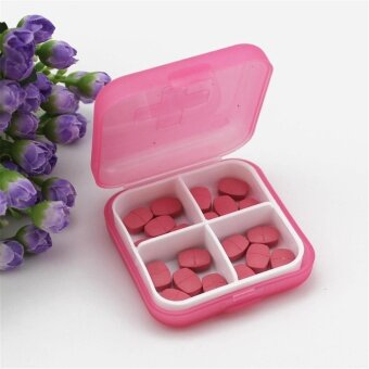 Mini 4 Slots Portable Medical Pill Box Drug Medicine Case Organizer