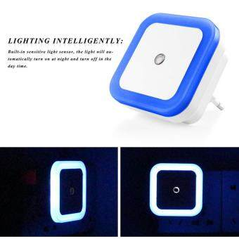 Mini Auto Night Lamp LED Light Built-in Light Sensor Control WhiteBedside Light Wall Lamp EU