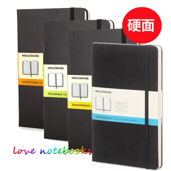 Moleskine black classic hard surface notepad book notebook