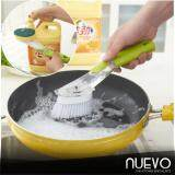Nuevo Kitchen Wash Tool Dish Pot Cleaner Brush with Washing Up Liquid Soap Dispenser Useful Home Supplies