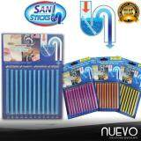 Nuevo Sani Stick Drain Cleaner Stain Stick For Toilet Kitchen Bath Sewer (12Stick)