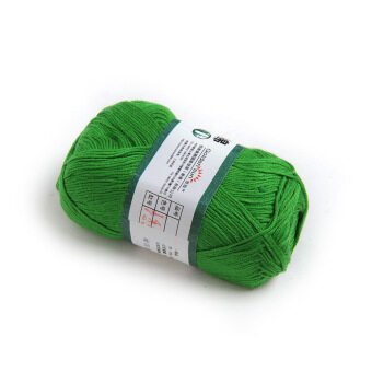 OEM 50g Smooth Bamboo Charcoal Cotton Stocking Yarn (Green)