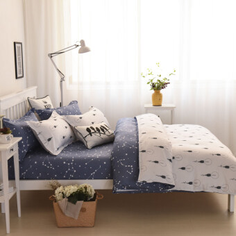 Harga Phantom dormitory student bed quilt bed linen Print four sets