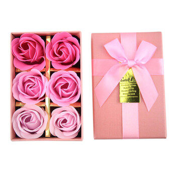 Harga Popular Creative Rose Flower Soap flower and bear gift box weddingdecoration artificial flowers soap - Pink gradient