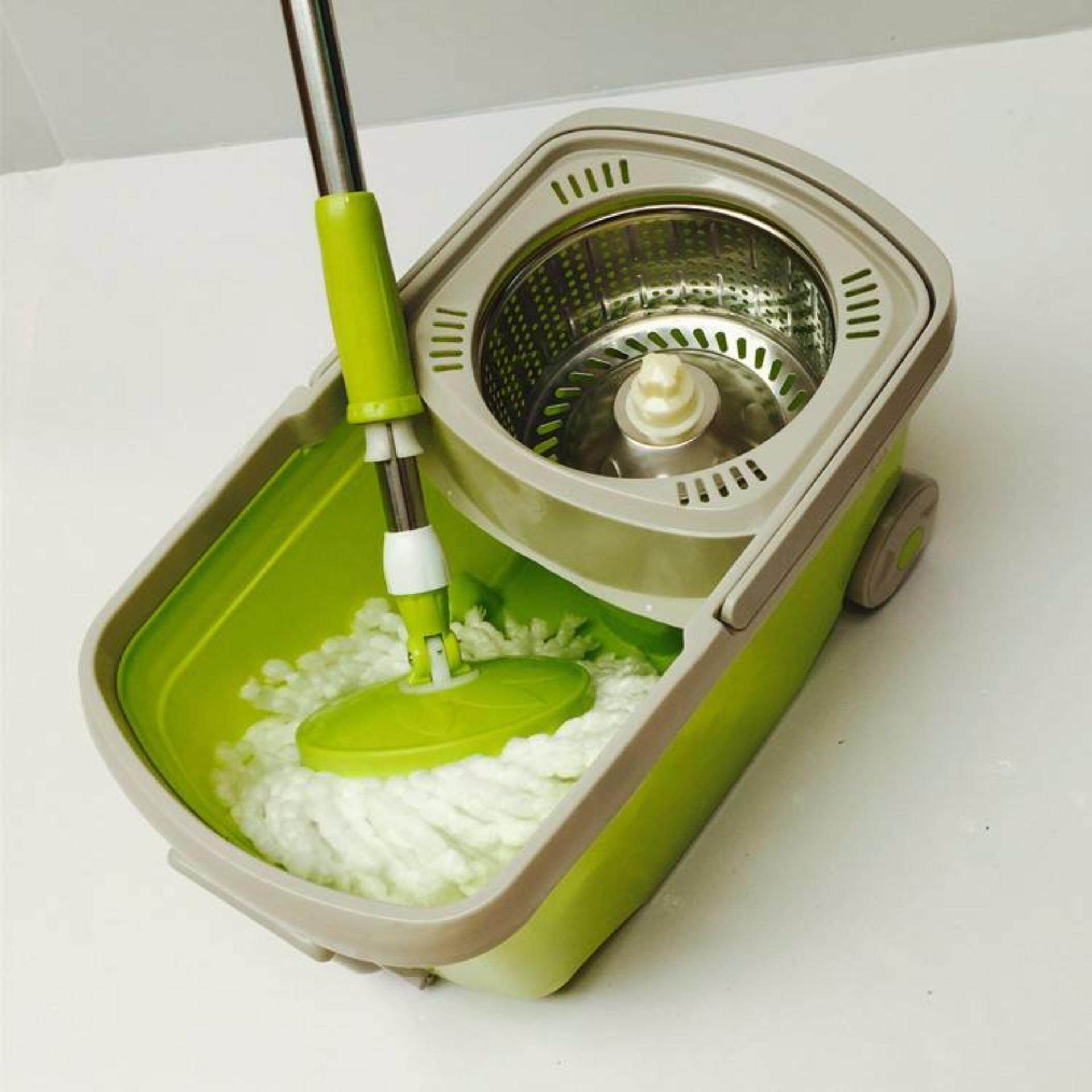 PREMIE Upgraded Stainless Steel Magic Spin Mop