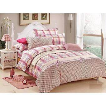 Harga Remy Mayfair Fitted Bedsheet Set-Pink Lady