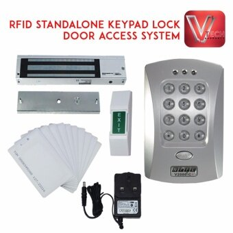 Harga RFID STANDALONE KEYPAD LOCK DOOR ACCESS SYSTEM WITH ELECTROMAGNETIC LOCK PACKAGE + 10 RFID ACCESS CARD (SET)