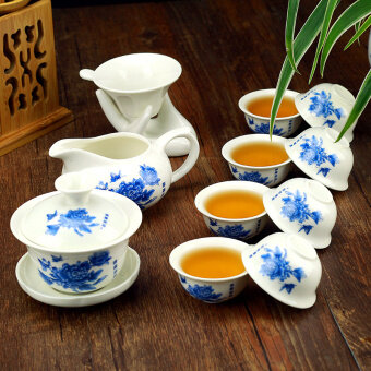 [RICH] ceramic Kung Fu tea set package of tea tray glass teapot Ice crack Ru cup