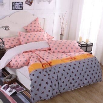 Harga SEC Style Queen Fitted Bedding Set bed protector home Quilt Cover Polye - Style C