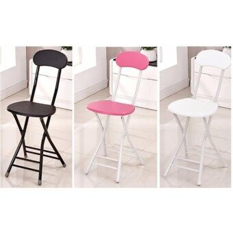Set of 2 Foldable Chairs with Backrest