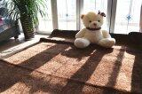 Shaggy Anti-skid Carpets Rugs Floor Mat/Cover 80x120cm (Brown .