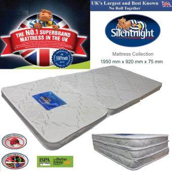Harga Silentnight Premium Quality Fabric Foldable Single Bed Mattress