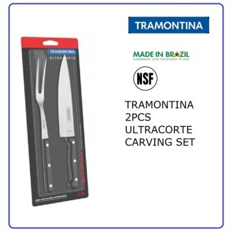 TRAMONTINA 2 PCS ULTRACORTE CARVING KNIFE SET (23899/050)