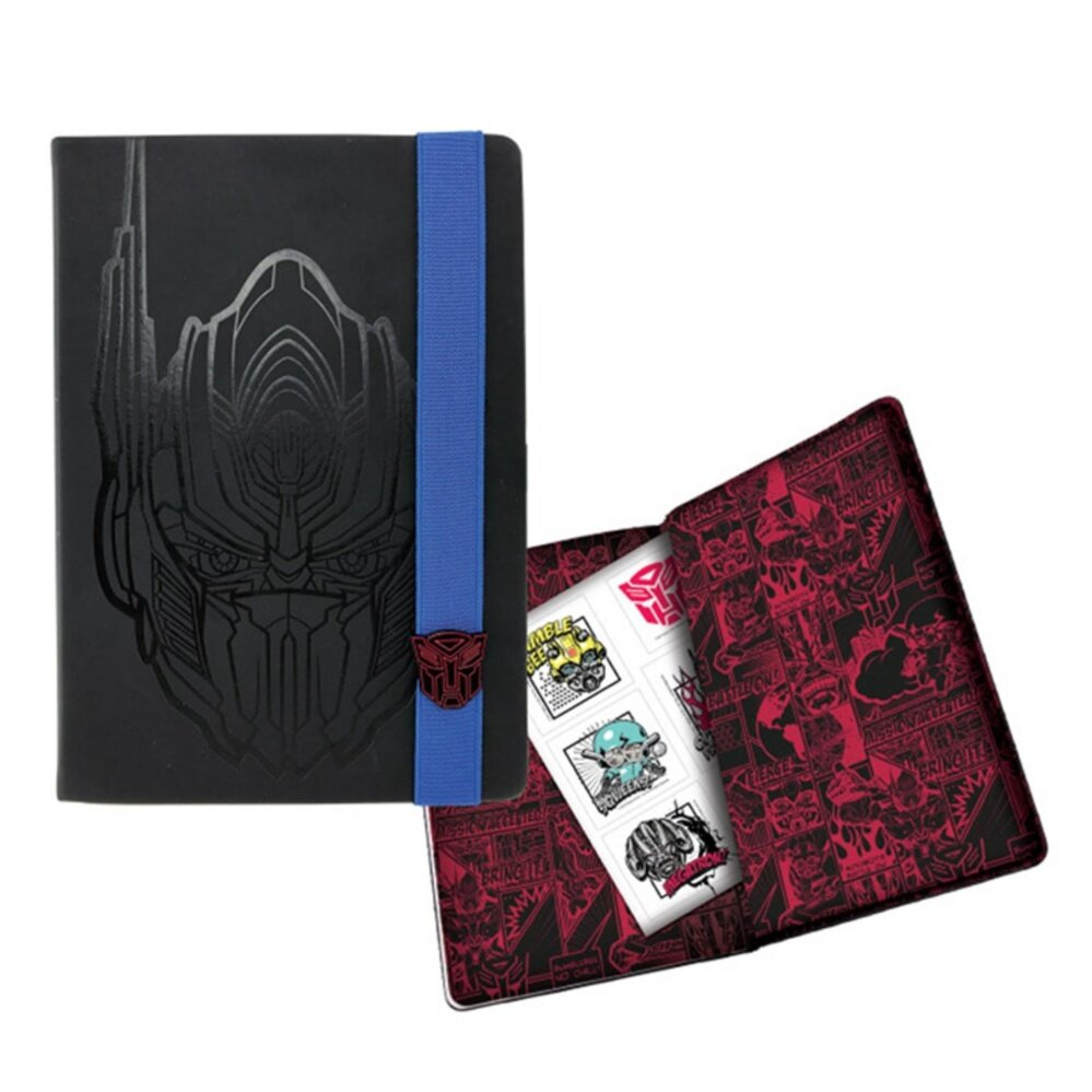 Transformers The Last Knight A5 PU Notebook - Black Colour