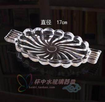 Transparent Glass snack dish