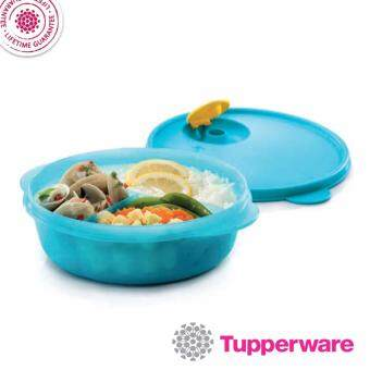 Harga Tupperware Microwave Friendly Reheat Food Container CrystalwaveDivided Dish 900ml (Blue)
