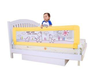 Harga Twomother Children's Bed Safety Baby Bed Rails Infant Bed Guard Rail Fence 180cm Yellow Deer