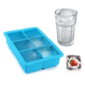 VORSTEK Hot Sale 6-Cavity Large Silicone Drink Ice Cube Pudding Jelly Soap Mold Mould