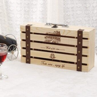 Wine wooden box packaging box pine double Grape Wine