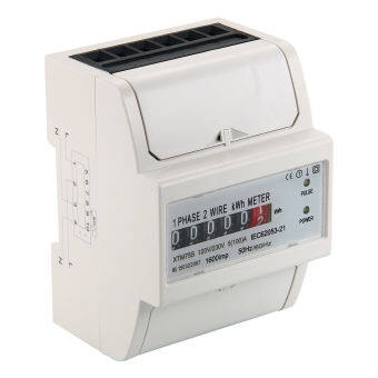 xcsource watt hour kwh meter digital single phase 2 wire 230v 5(100)a