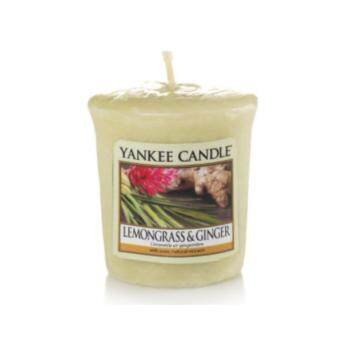 YANKEE CANDLE Sampler Lemongrass & Ginger (Light Green)