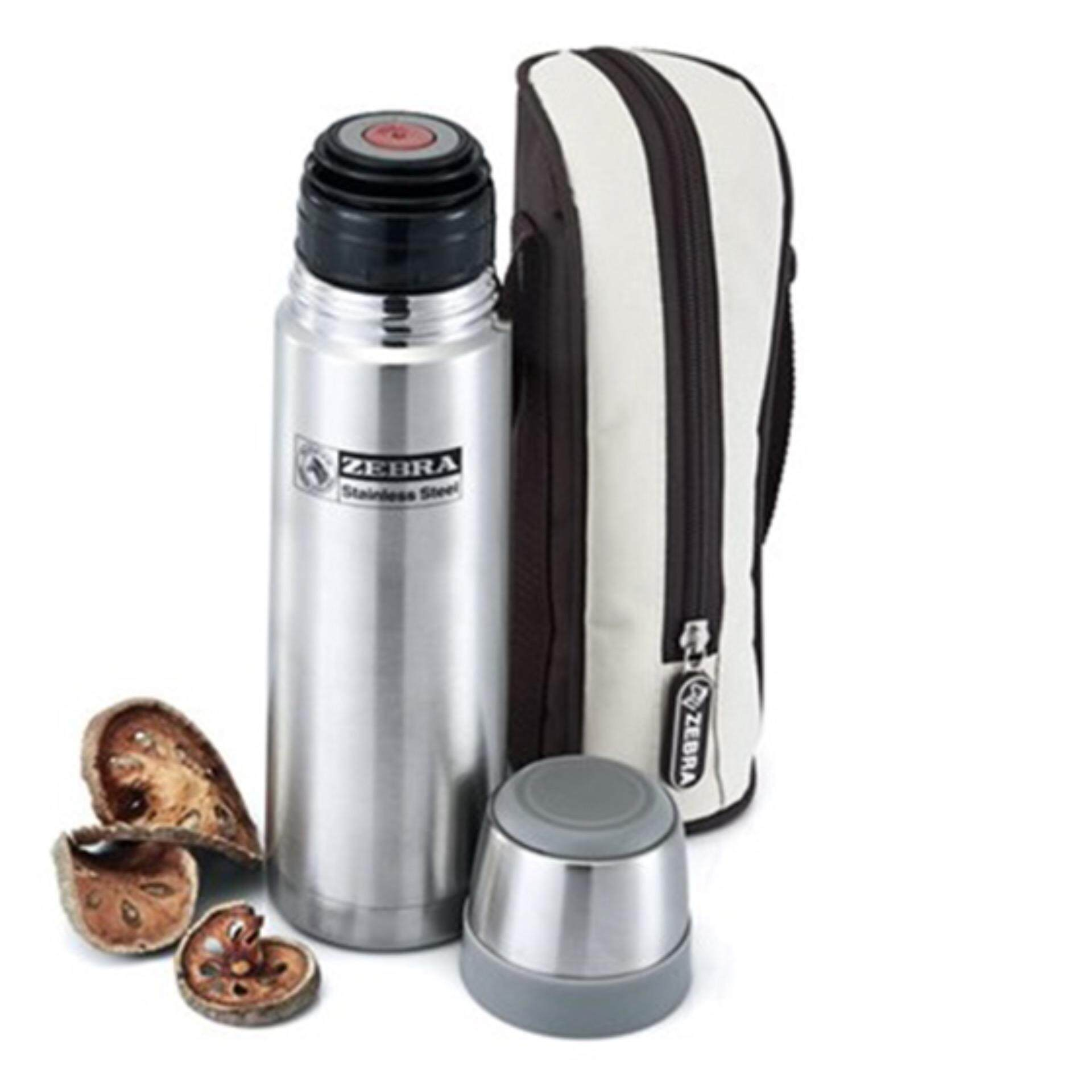 ZEBRA 1.0L Vacuum Flask Prima II with Keep warm bag