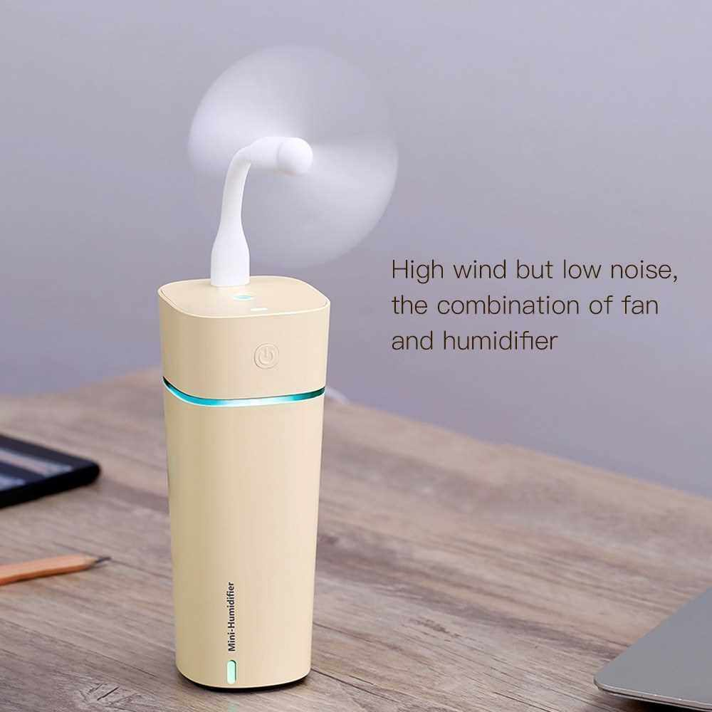 Best Selling Mini M11 Fan Lamp 3-in-1 Vehicle Household Desktop Humidifier Yellow (Yellow)
