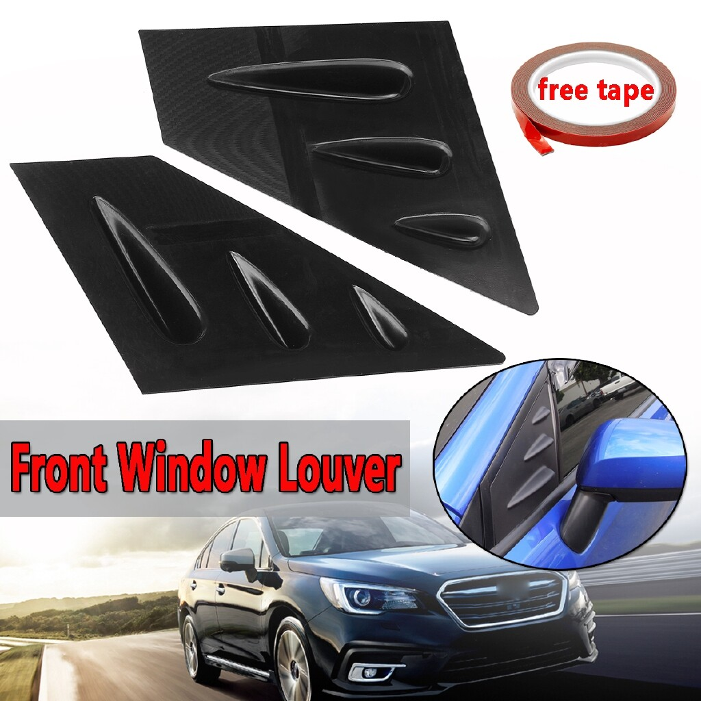 Windscreen Wipers & Windows - For 2015- Subaru WRX STI ABS Front Side Vent Window Louver GLOSSY BLACK - Car Replacement Parts