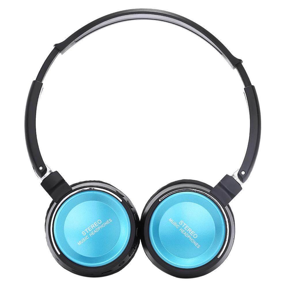 BT - 823 WIRELESS BLUETOOTH HEADPHONE HEADSET WITH FM RADIO TF CARD SLOT (BLUE)