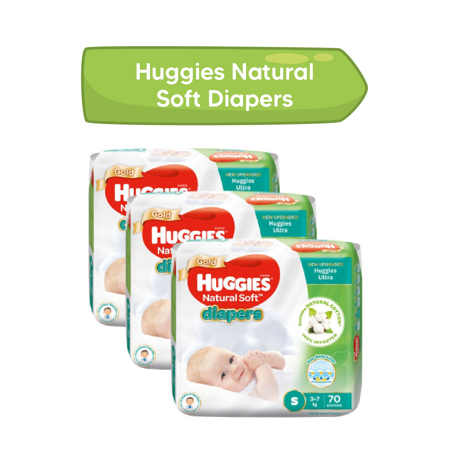 Huggies Natural Soft Diapers (XXL)