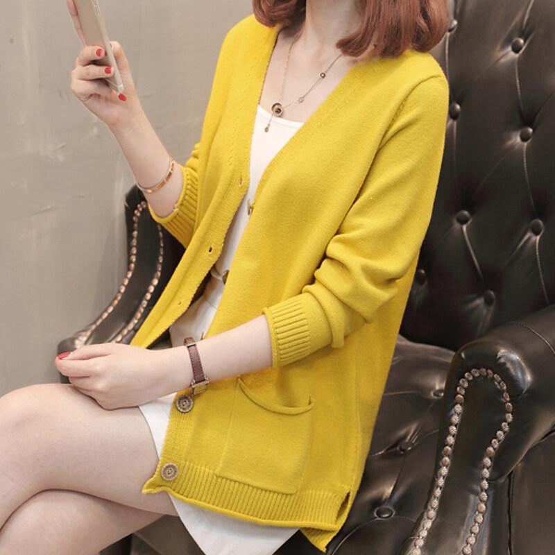 (Pre Order 14 Days JYSFashionKoreanStyleWomenKnitCardiganCollectioncol536-8822 yellow s
