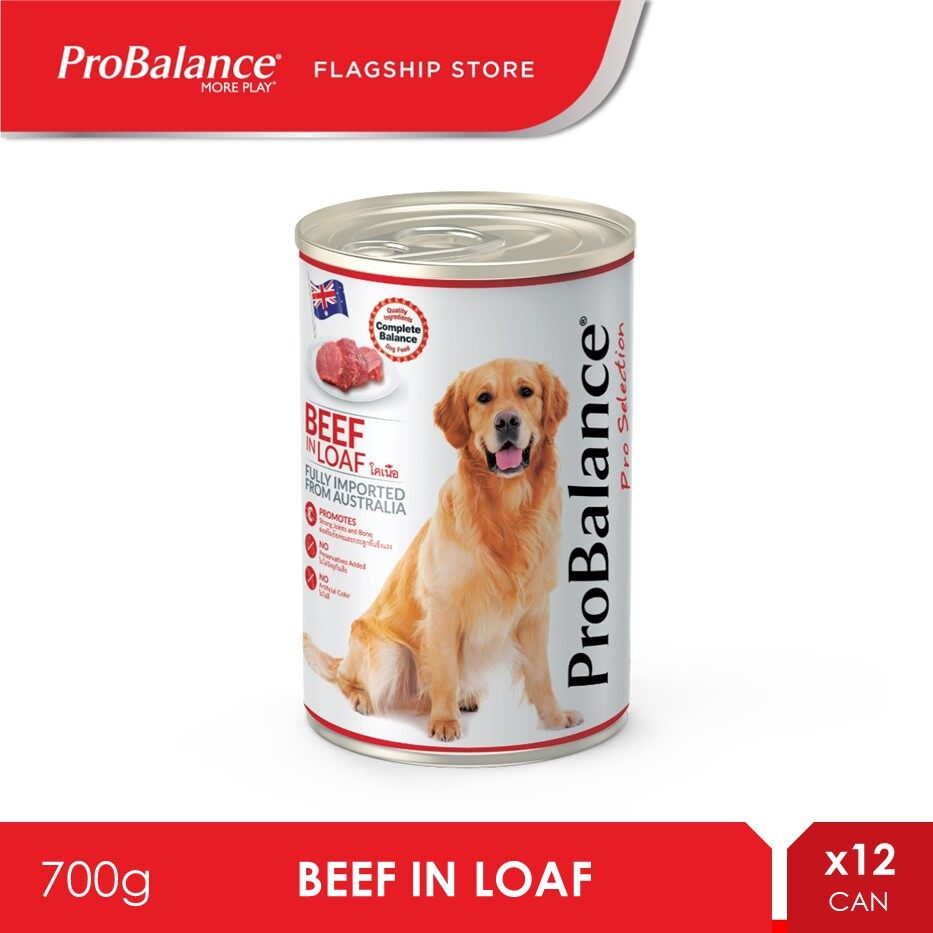 ProBalance 700G Beef Pro Selection Adult Wet Dog Food x 12 Cans [makanan anjing]