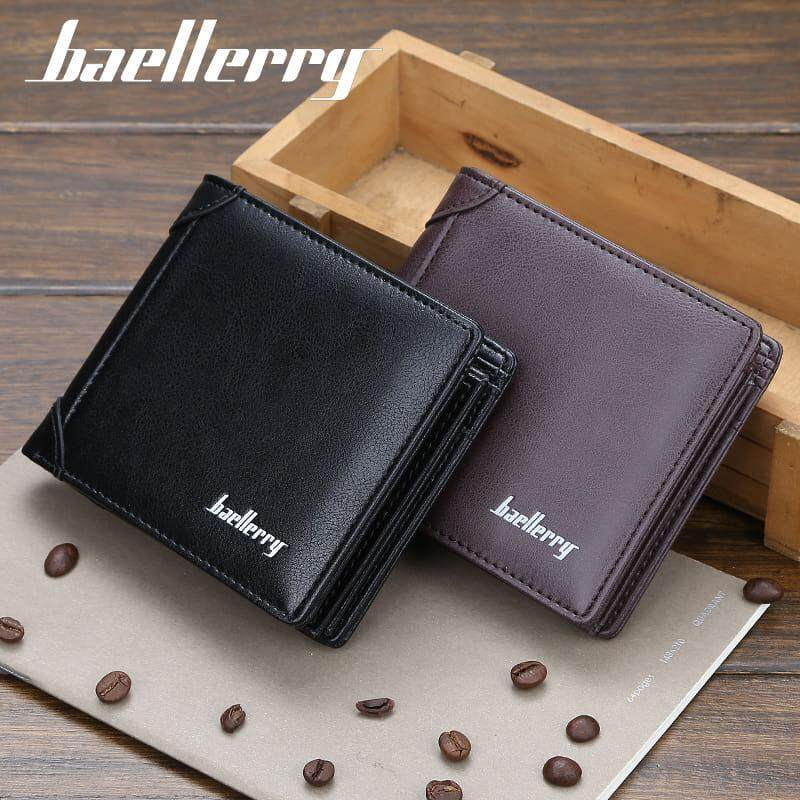 [M'sia Warehouse Direct] 2019 Korean Series Men's Fashion Wallet Bi-Fold Fengshui Wallet Europe Designer Perfect Gift (Come With Box) Clutch Card Coins Cash Slot With Zip Portable Hand Carry Bag Luxury Top Material Genuine Leather Halal Dompet Kulit