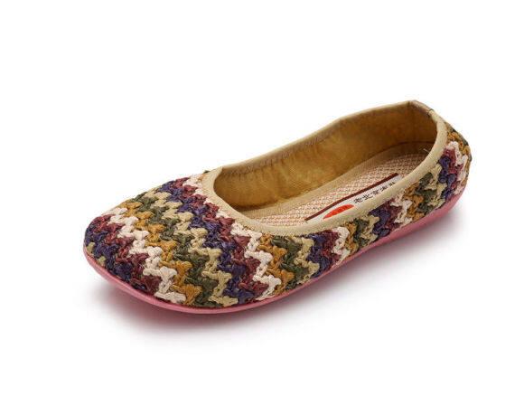 Mùa xuân mới và mùa hè cũ Bắc Kinh giày vải thở phào và đôi giày phẳng không rơi giày của phụ nữ... giày cầu vồng đôi giày duy nhất của phụ nữLKUnjhg giá rẻ