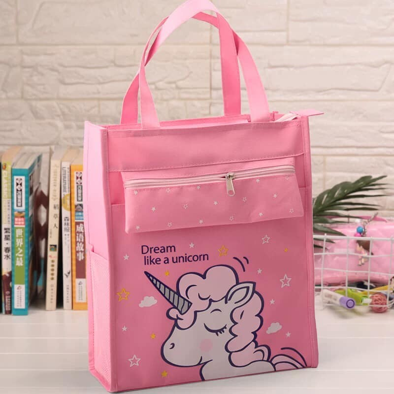 BAGGIE Ready Stock Unicorn Children Kids Tuition Tote Shoulder Bag