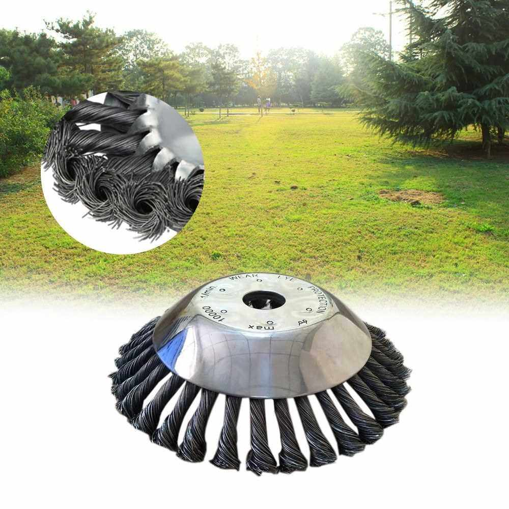 People's Choice 6/8Inch Steel Wire Wheel Grass Cutter Trimmer Parts Wear-Resistant Rust Removal Weeding Plate Mower Head (1)