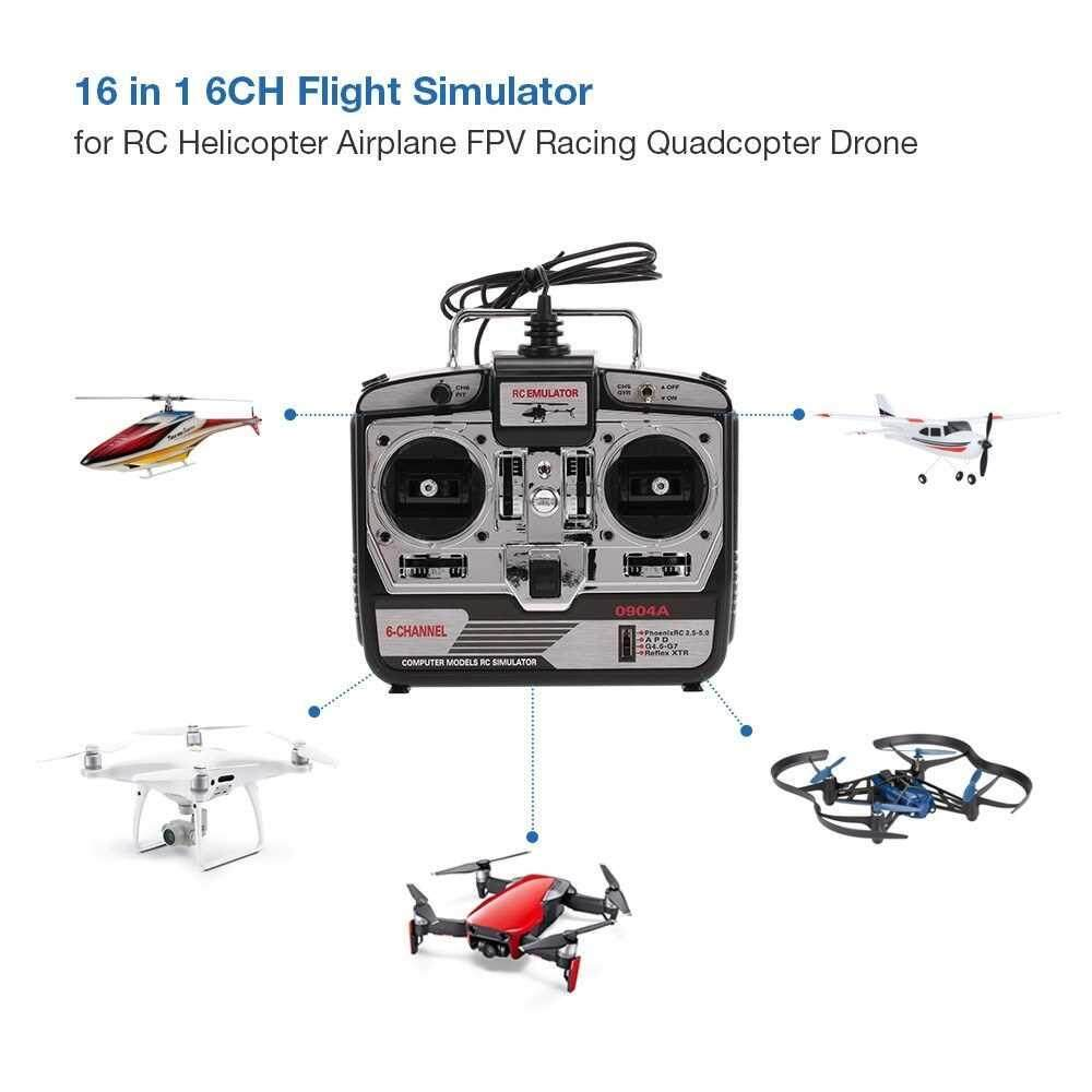 People's Choice 16 in 1 6CH USB Flight Simulator Emulator for RC Helicopter Airplane FPV Racing Drone Quadcopter