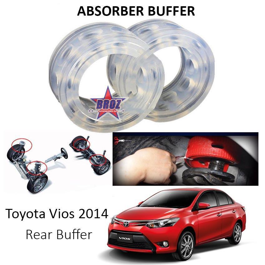 Broz OEM Rear C-Type Car Shock Absorber Buffer /Spring Bumper/ Power Cushion Buffer (Transparent) for Vios 2014-2017