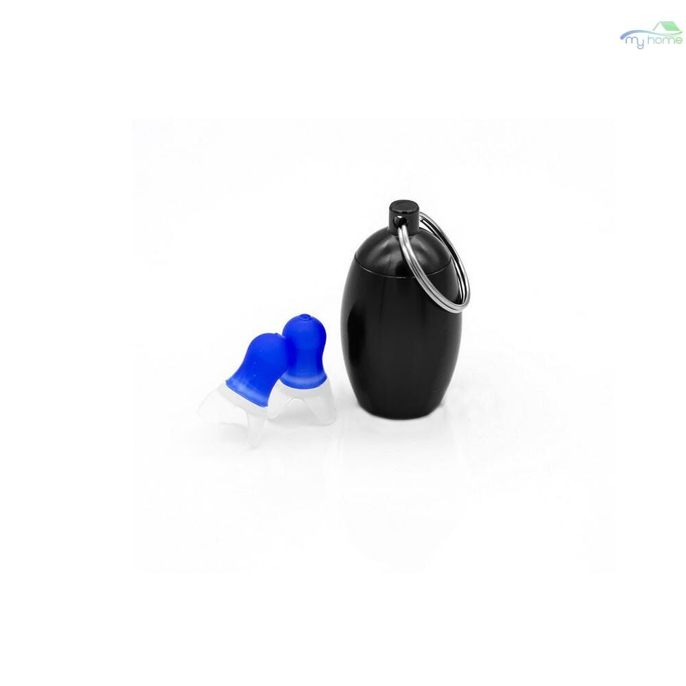 Protective Clothing & Equipment - 1 Pair Noise Cancelling Ear Plugs Waterproof Soft Silicone Earplugs Anti-Noise Ear Protectors For - SILVER-S / SILVER-M / BLACK-S / BLACK-M