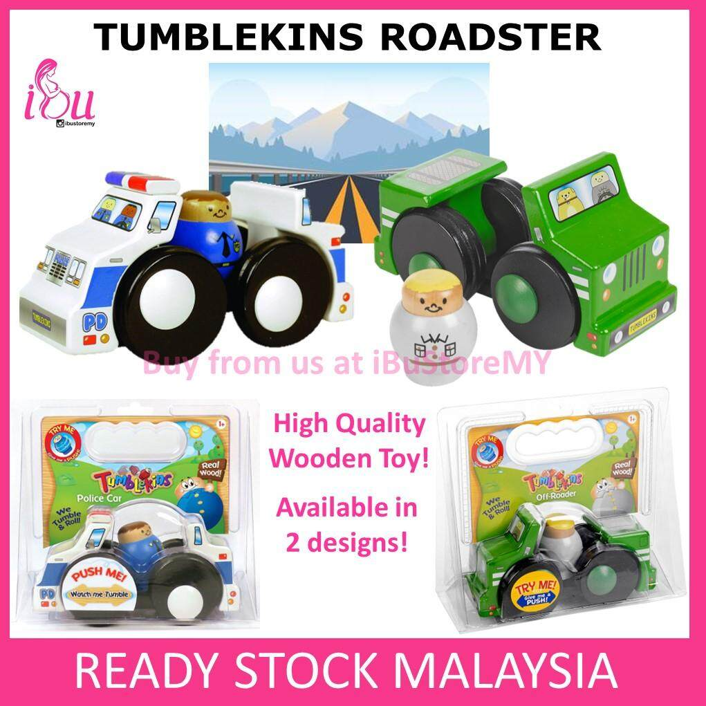 Tumblekins Wooden Roadster Wooden Toy Car Police Car Kids Toys Early Learning Educational Toys