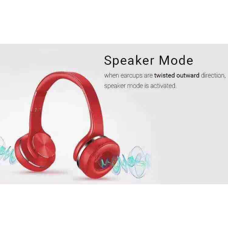 MH5 2 in 1 Bluetooth Headphone combines Bluetooth headphone and Twist-out speaSODo