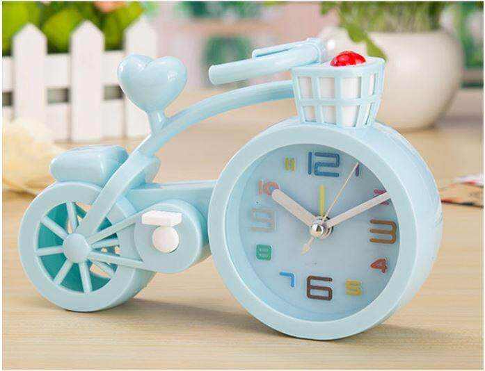 Retro Antique Alarm Clock Locomotive Motor Bike Bicycle Alarm Clock