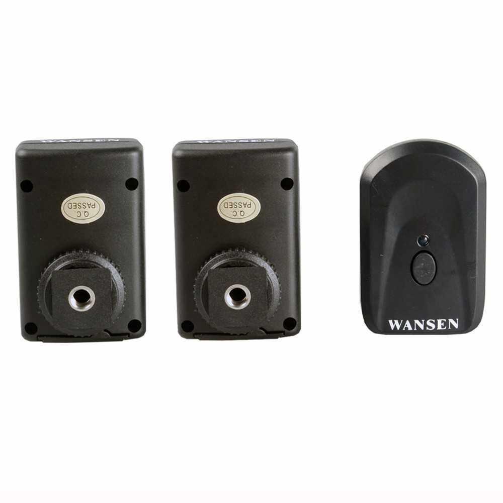 PT-04GY 4 Channels Wireless Remote Speedlite Flash Trigger Universal 1 Transmitter & 2 Receivers for Canon Nikon Pentax Olympus (Standard)