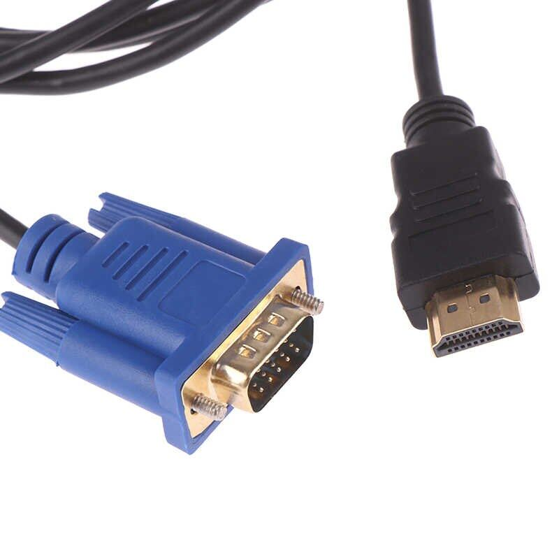 1.8M VGA Cable HD 1080P Male to VGA Male Video Converter Adapter for PC Laptop