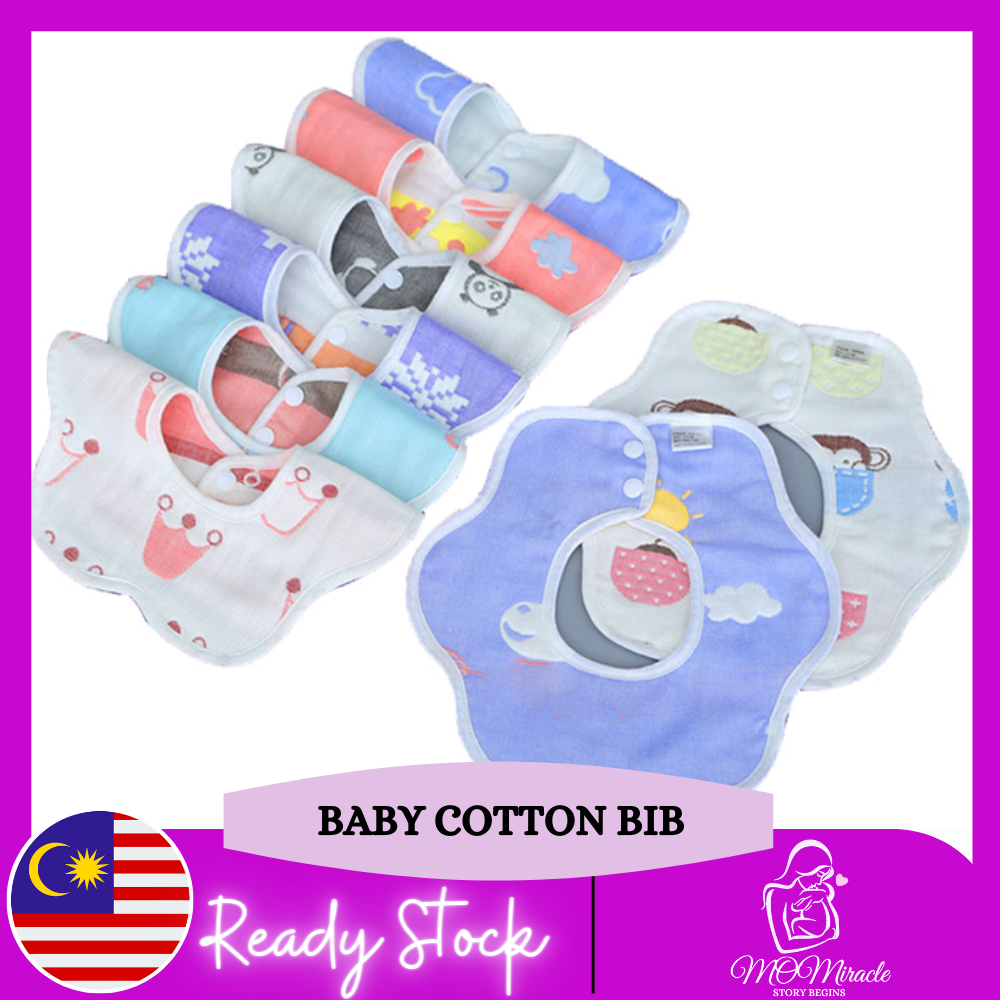 MOMiracle saliva towel baby drool bib baby bib cotton waterproof can rotate 360 degrees to spit milk scarf